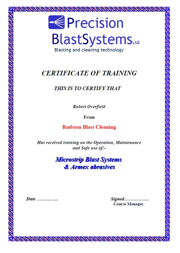Service  Soda Blasting Training  Precision Blast Systems Ltd